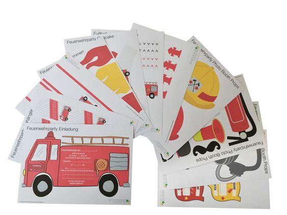 Tollen Download für eine Menge Dekorationsmaterial zur perfekten Feuerwehr Kinderparty. Schließlich möchten Kinder ganz und gar Feuerwehrmann sein an diesem Tag. Auch viele coole Spielideen zum Feuerwehr Geburtstag findet ihr auf dem Limmaland Blog. www.limmaland.com