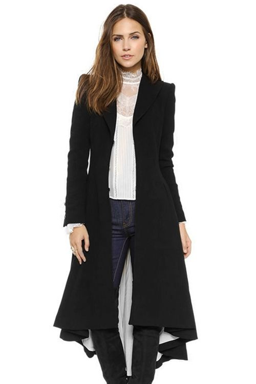 Faux Fur Hooded Collar Long Sleeves Thicken Denim Coat | Wool