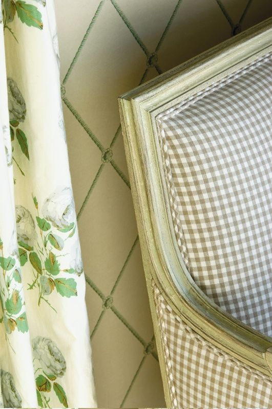 Colefax Fowler Bowood & pretty check fabric - Leta Austin Foster - 30s Revival in Delray Beach: