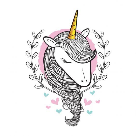 مرسومة باليد خربش الجمال يونيكورن ناقلات التوضيح How To Draw Hands Unicorns Vector Unicorn Illustration