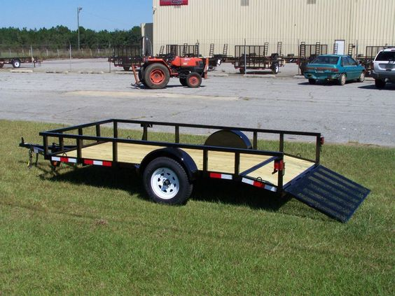 Lawn Mower Utility Trailer : Utility trailer with dove tail the