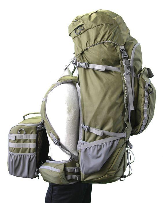 Naneu K5 v2 80L Adventure Backpack For DSLR Camera With Removable Pod  Olive…