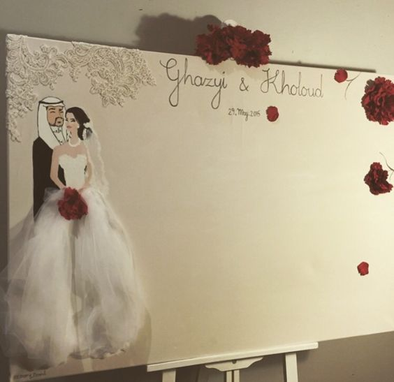 Weddings Memory Board 70x100