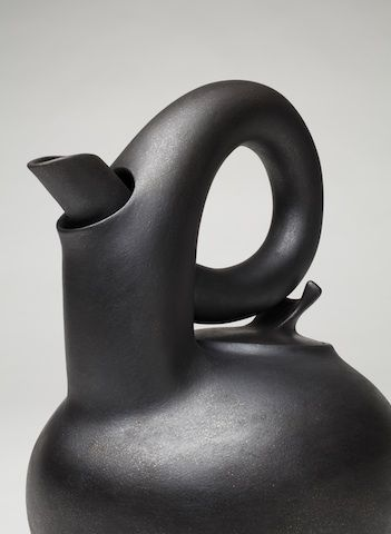 """Black Teapot 2010"" by Christine Nofchissey McHorse- Kamm Teapot Foundation of Gloria and Sonny Kamm Collection:"