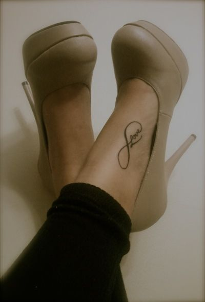 """infinity tattoo. Want this but with the word """"sisters. Like the placement of it."""