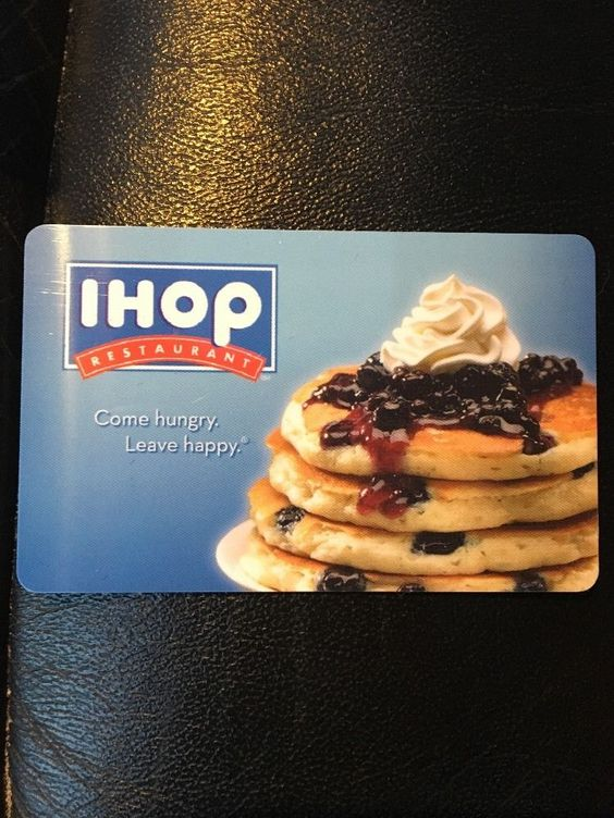 Gift cards valid at all Ihop restaurants nationwide! I pride myself on positive feedback so if you do not receive your card in 10 business days I wi... #receipt #with #card #gift #ihop