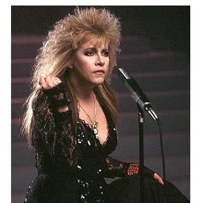 """Stevie Nicks on the set of her """"I Can't Wait"""" video. """"She has outlasted the bad reviews ('A menace solo, equally unhealthy as role model and sex object,' wrote Robert Christgau in the '80s edition of 'Christgau's Record Guide')...But Stevie Nicks won't outlast 'Rhiannon,' 'Landslide,' 'Dreams' and 'Silver Springs.' Those songs — those melodies, that foggy, headstrong voice — play on and on, woven into pop music's genetic code. You'll never get away from the sound of the woman who wrote…"""