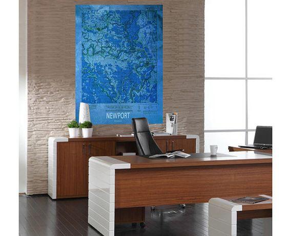 Printable NEWPORT Blue Map Downloadable Print US Map Print - Downloadable us map