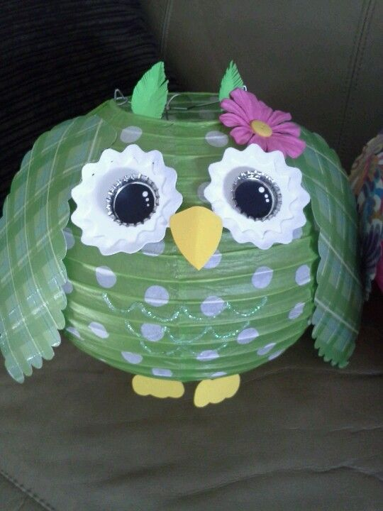 My version of the paper lantern owl