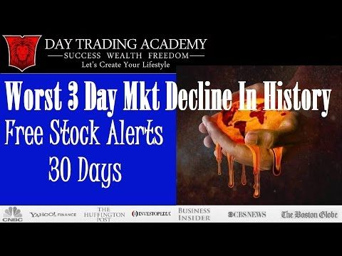 Worst Stock Market Decline In American History - Free 30 Day Stock Alerts