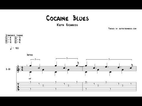 Keith Richards  Cocaine Blues Guitar Tabs Acoustic
