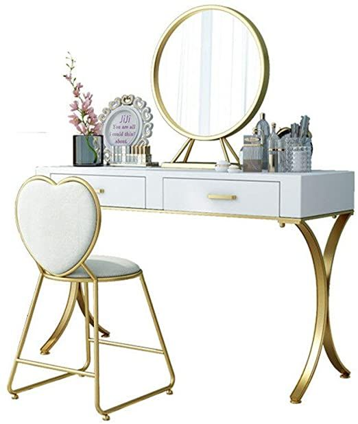 Bjzxz Dressing Table Nordic Simple And Light Luxury Dressing Table Solid Wood Bedroom Makeup No Chair For Da In 2020 Wood Bedroom Dressing Table Set Colorful Furniture