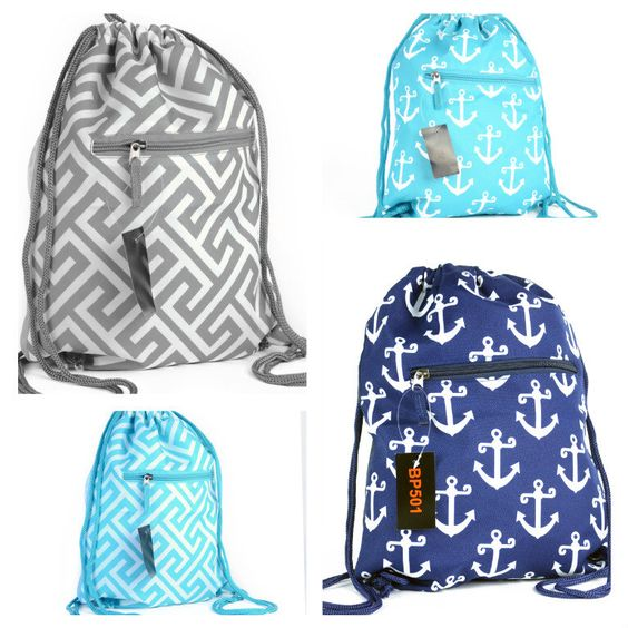 Gym bags, Drawstring backpack and Sports bags on Pinterest