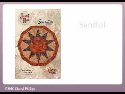 Sundial Quilt Pattern Video by Cheryl Phillips of Phillips Fiber Arts now on our YouTube page!