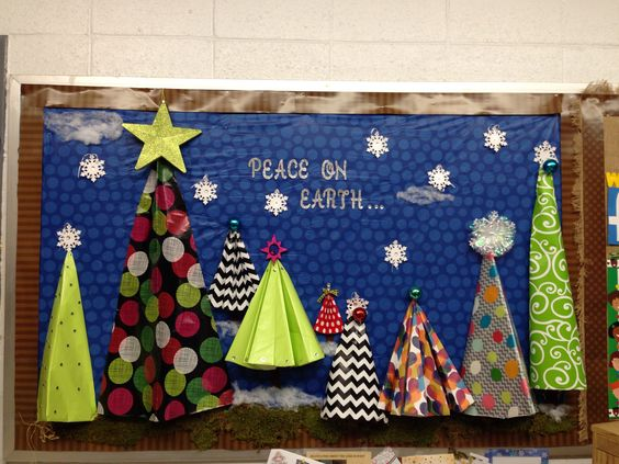3d bulletin boards peace on earth and origami on