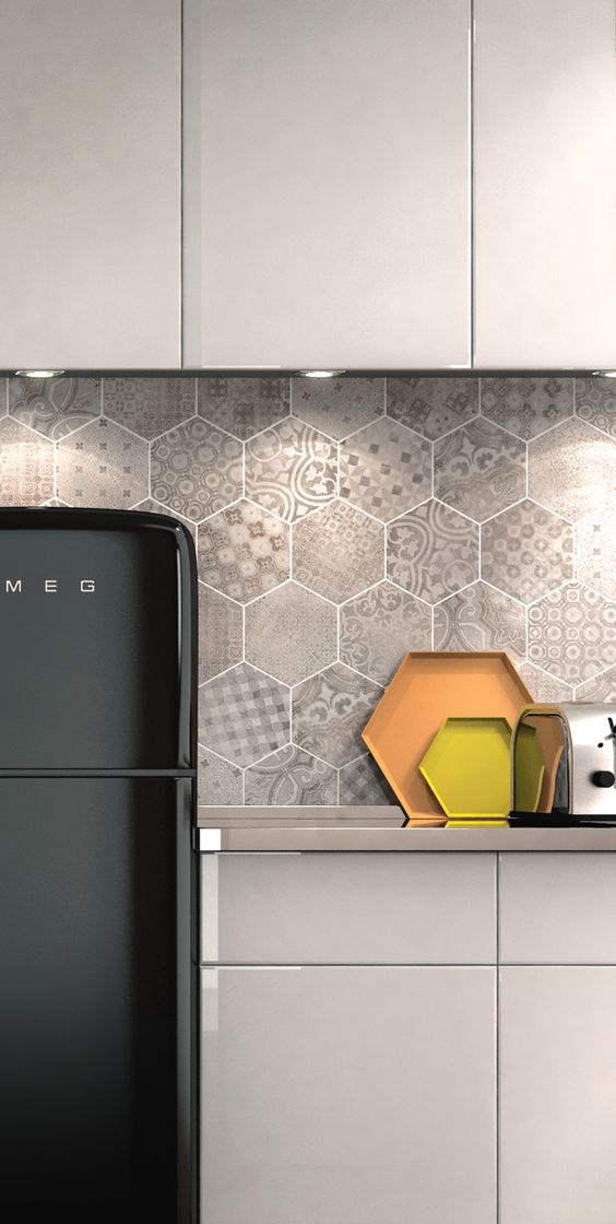 Rewind Decoro Cementine Kitchen Roomscene Featuring