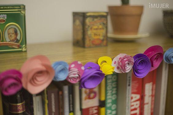 Simple idea para hacer una guirnalda con flores de papel