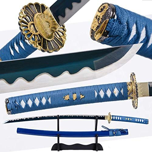 Gold Dragon Japanese Samurai Sword Set Katana+Wakizashi Sharp Blade Full Tang