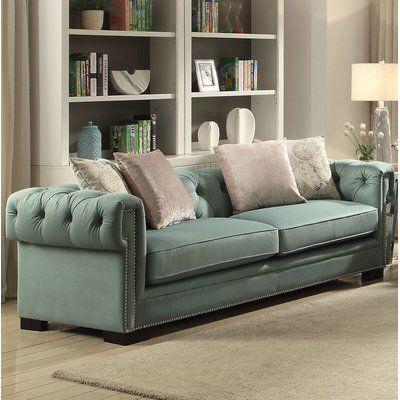 Mercer41 Kincannon Sofa Upholstery: Teal