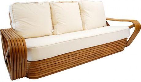 Vintage rattan sofa!  My absolute favorite!