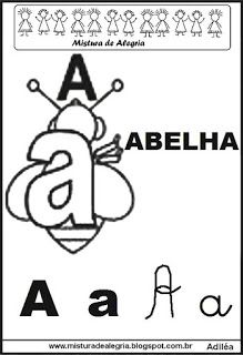 Alfabeto ilustrado letra A