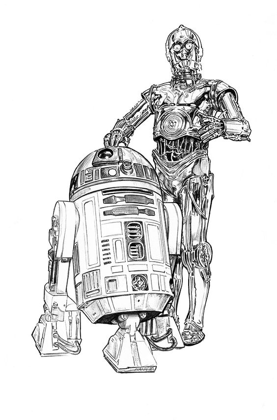 Star Wars, War and Stars on PinterestR2d2 And C3po Drawing