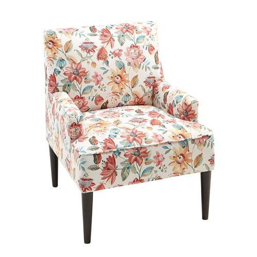 Lily Spice Floral Accent Chair Floral Accent Chair Accent Chairs For Living Room Floral Print Chair