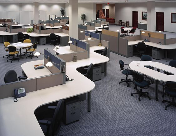 Modern open office design google search industrial for Modern office designs and layouts