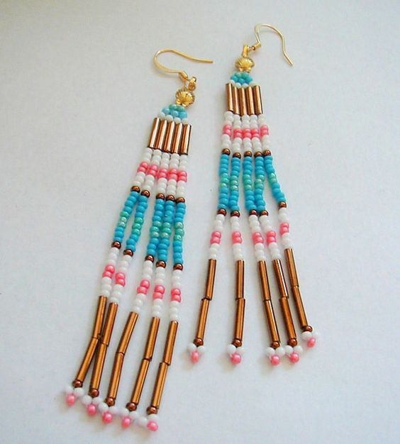 Long Thin Native American Style by SimplyBeadedTreasure on Etsy
