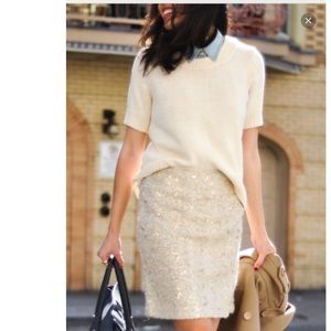 Image result for banana republic sequin skirt outfits