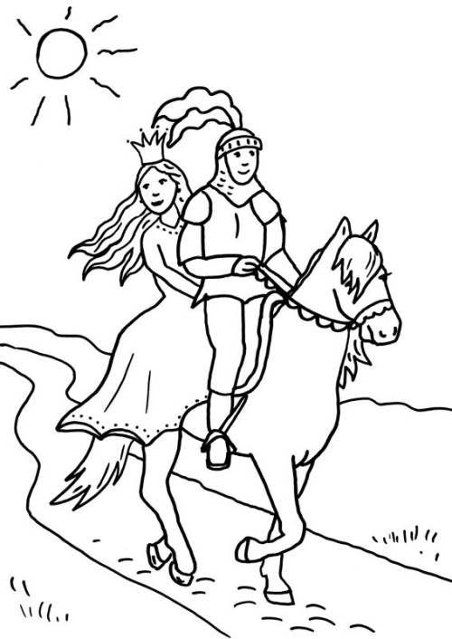 Ritter Und Drachen Ritter Und Prinzessin Zum Ausmalen Prinzessin Zum Ausmalen Ausmalbilder Ritter Ausmalen
