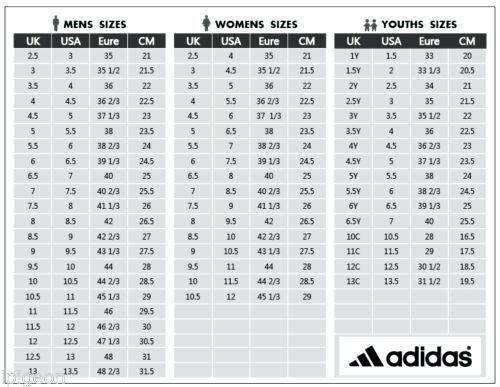 Adidas Men S Shoe Size Chart Cm In 2020 Shoe Size Chart Kids Toddler Shoe Size Chart Nike Shoes Size Chart