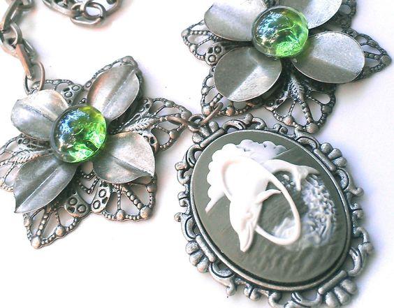 Dolphin Jewelry Cameo Women Jewelry Women Gift by AbsoluteJewelry, $40.00