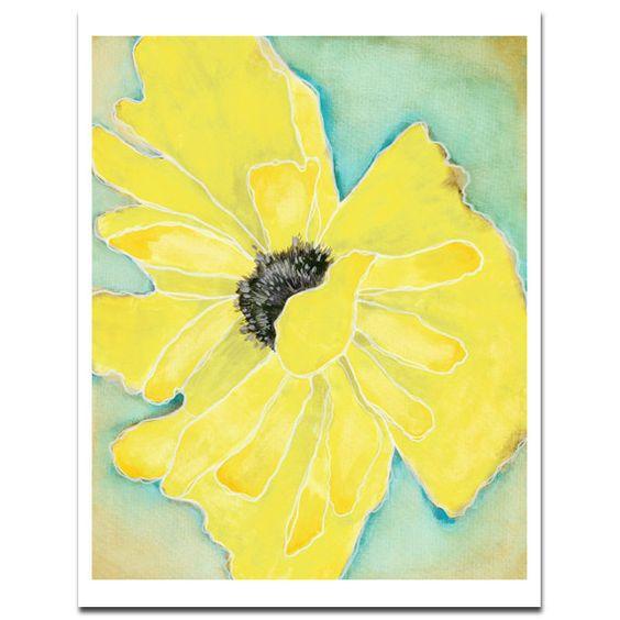 "Wild Poppy 1 in Yellow--8""X10"" Fine Art Print ($18 Etsy)"