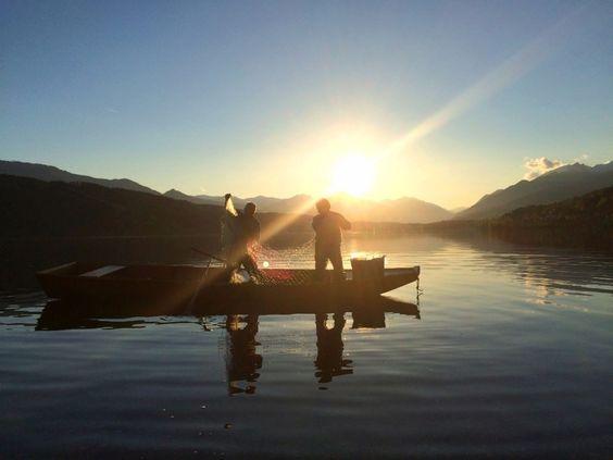 Urlaub mit Hund und/oder Katze in Kärnten - Millstätter See.  Fischer am…
