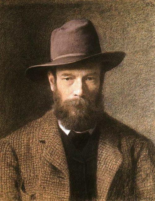 Otto Scholderer, Self-portrait, 1885-86. (German, 1834-1902)