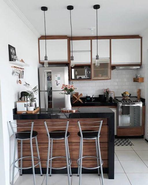 Cocinas Pequenas Pero Modernas Para Tu Apartamento Daily Femenine X Home Kitchens Kitchen Design Small Kitchen Interior
