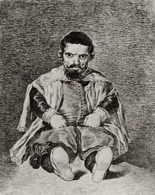 Goya y Lucientes, Francisco de: Don Sebastián de Morra enano, según Velázquez