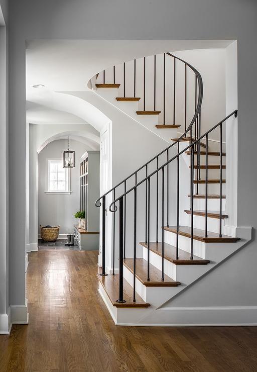 Serene Dream Homes And Transitional Interiors Wrought Iron Staircase Iron Staircase Iron Staircase Railing