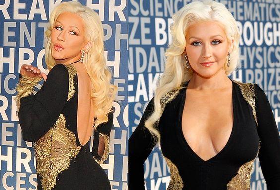 """Christina Aguilera (34) präsentierte sich beim """"Breakthrough Prize"""" im kalifornischen Mountain View extra verführerisch."""