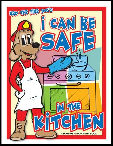 Reds i can be safe in the kitchen activity book fpw 2013 for 8 kitchen safety rules