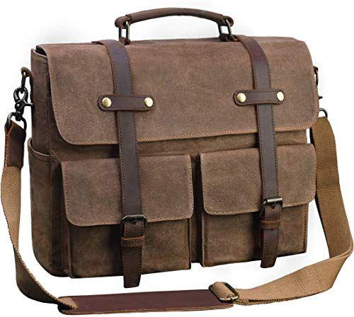 New  Real Vintage Briefcase Satchel Leather Laptop Messenger Shoulder bag