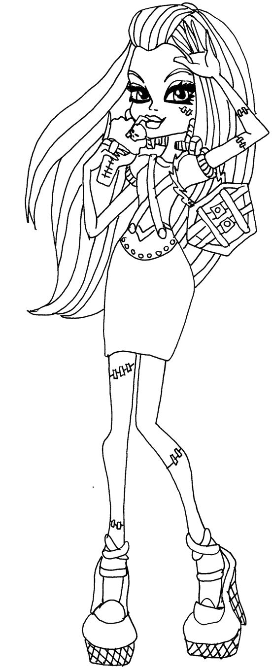 Monster High Frankie Stein Riser Coloring Pages