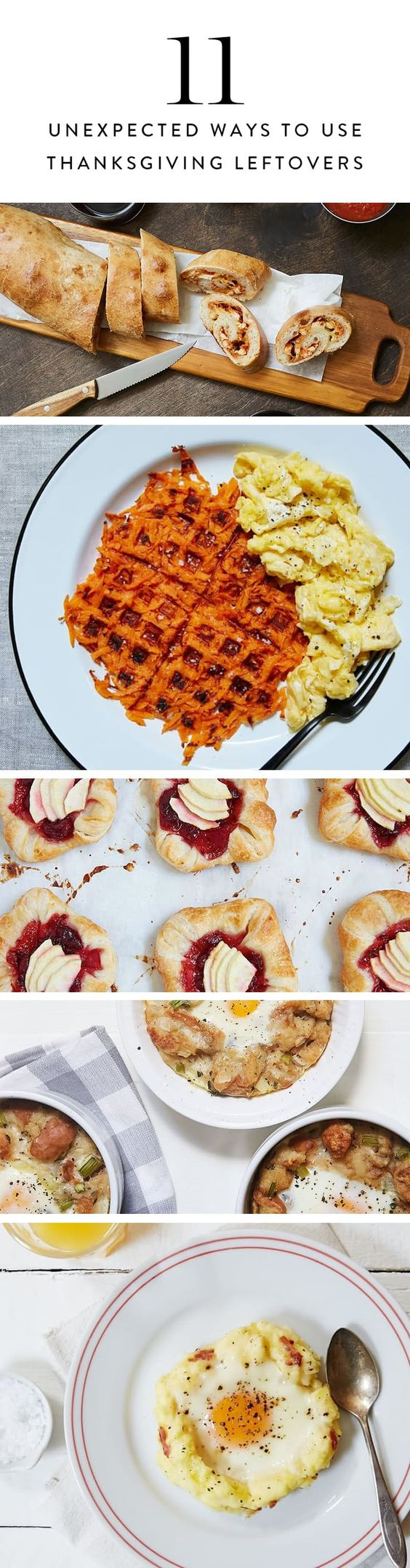 11 Unexpected Recipes to Make with Thanksgiving Leftovers via @PureWow