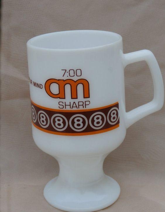 Super 8 Motel Mug 7:00 am Sharp Wake Up Your by MendozamVintage