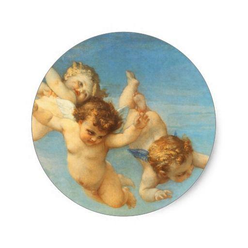 Nascimento de Venus, detalhe dos anjos por Cabanel