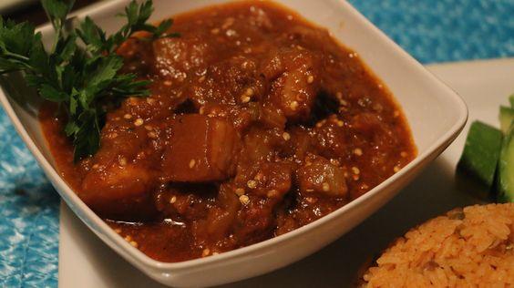 Carne de Cerdo Guisada Con Berenjenas|Braised Pork With Eggplant