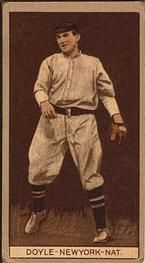 1912 Brown Backgrounds T207 #51 Larry Doyle Front