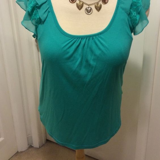 French Laundry blouse A great blouse slightly used great with jeans and a fabulous mint green. XL petite. French Laundry Tops Blouses
