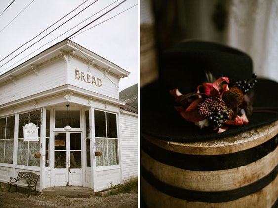 The Bread Bar wedding - hat boutonniere. Alternative boutonniere. Flowers for the groom. Lale Florals